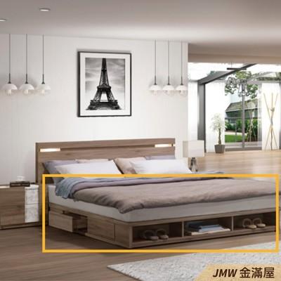 雙人加大6x7尺 床底 單人床架 高腳床組 黑白色加大 臥房床組【金滿屋】SH163-4 (7.9折)