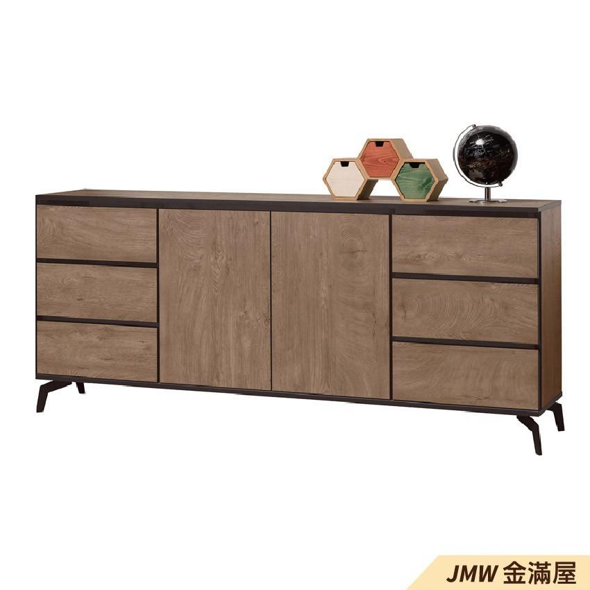 180cm北歐餐櫃收納 實木電器櫃 廚房餐櫥櫃 碗盤架 大理石金滿屋尺餐櫃-sh614-3