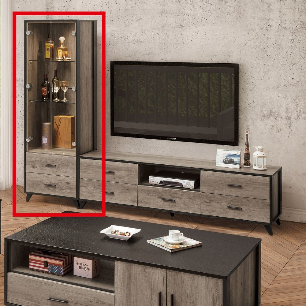 60cm展示櫃-c702-4客廳組合長櫃 展示收納櫃 北歐工業風 tv櫃 金滿屋