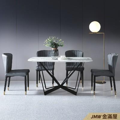 餐桌伸縮 長型餐桌組 北歐大理石桌子 圓形桌 方形收納摺疊桌 餐桌椅組【金滿屋】E735-1 (7.7折)