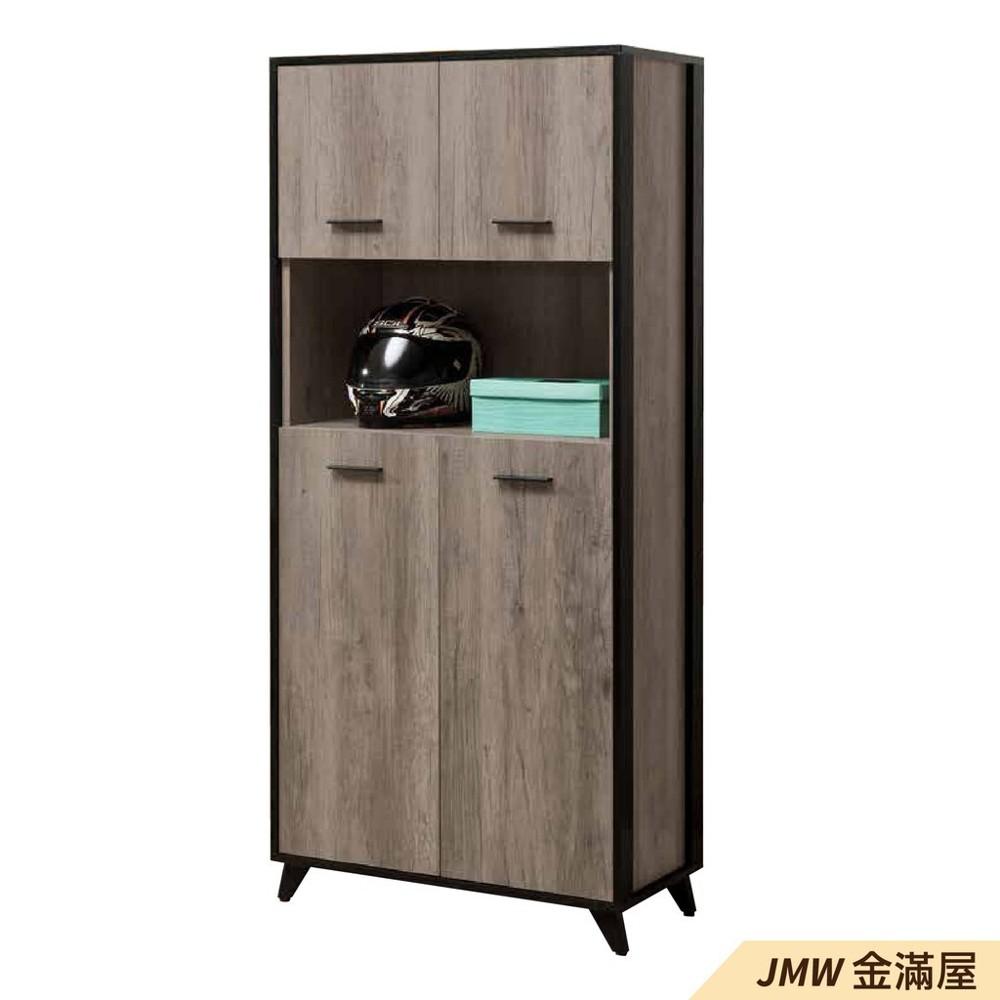 80cm鞋櫃 高矮櫃 坐式鞋櫃椅 櫥櫃子 玄關雙面櫃金滿屋整理收納櫃 鞋架-r408-1 -