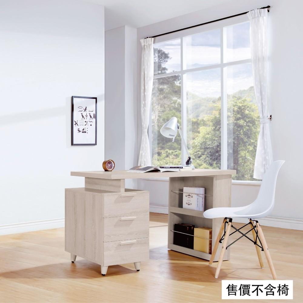 120~160cmh型伸縮書桌-b493-04工業風工作桌 書櫃型書桌 書桌加書櫃 金滿屋