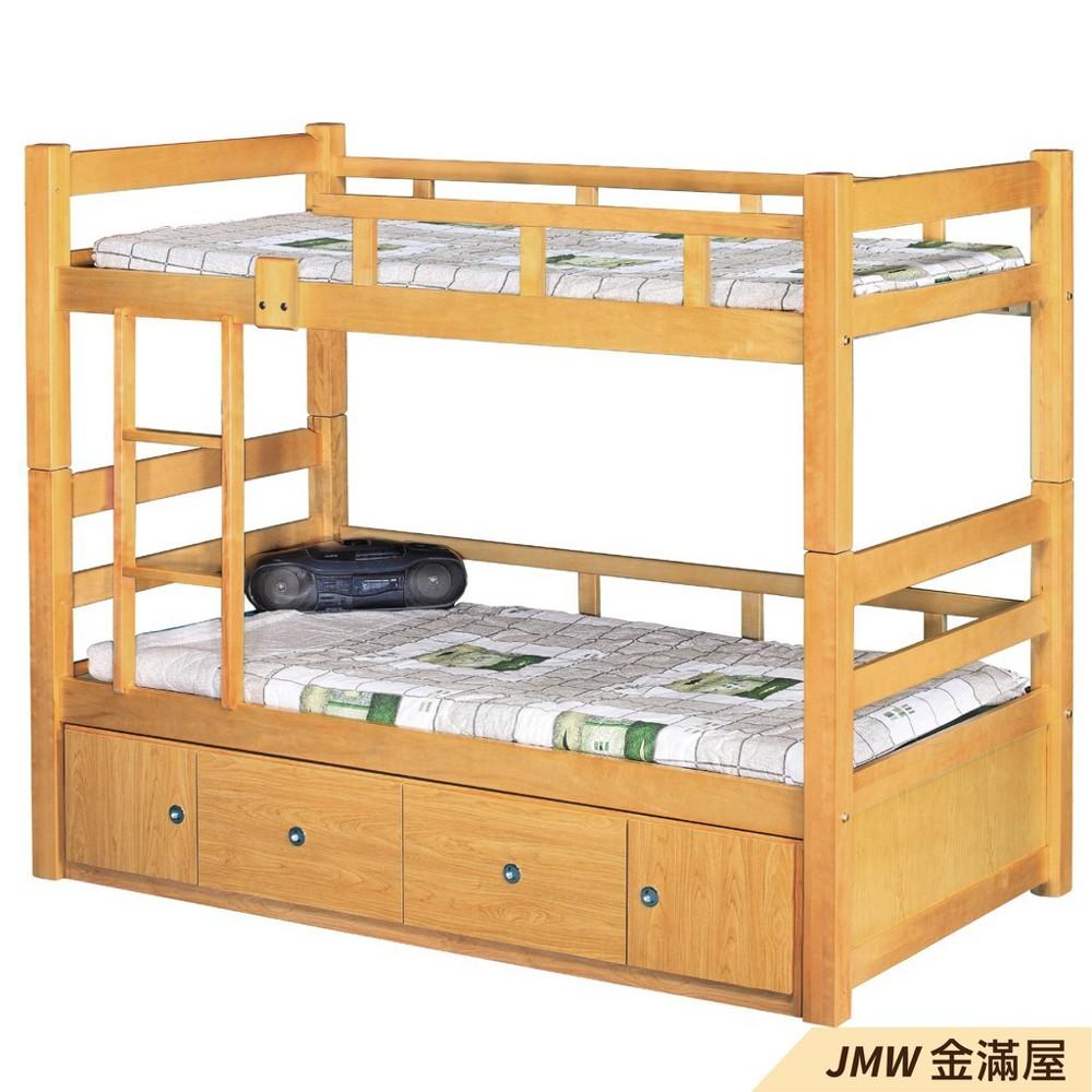 [免運]雙層床 上下舖 雙人5尺 標準單人 全實木 鐵床鋪金滿屋r093-1 -