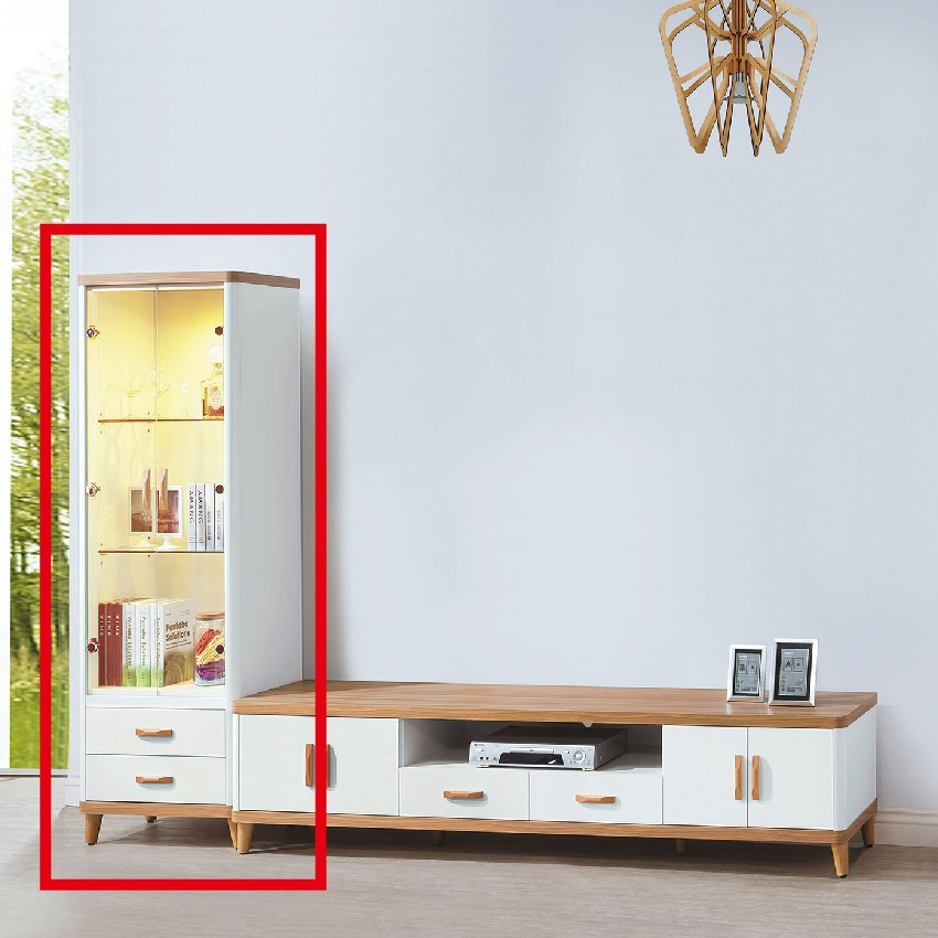 60cm展示櫃-e411-6客廳組合長櫃 展示收納櫃 北歐工業風 tv櫃 金滿屋