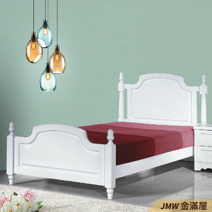 [免運]標準單人3.5尺 床底 單人床架 高腳床組 抽屜收納 臥房床組金滿屋q173-1 -