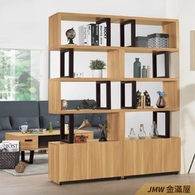 寬160cm客廳雙面櫃 隔間牆 玄關櫃 書櫃書櫥 北歐工業風【金滿屋】展示整理櫃-SH484-2 (8.7折)
