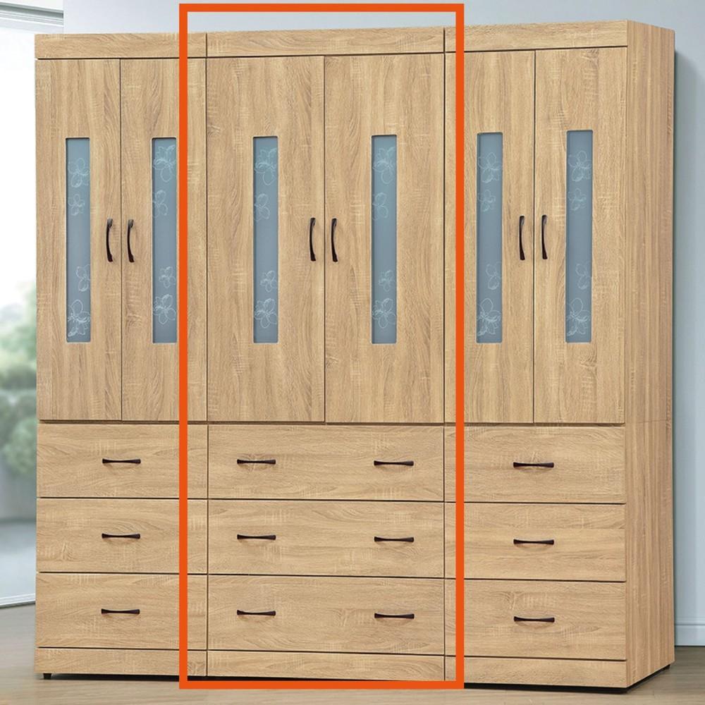 82cm衣櫃-k17-9037木心板 推門滑門開門 衣服收納 免組裝 金滿屋