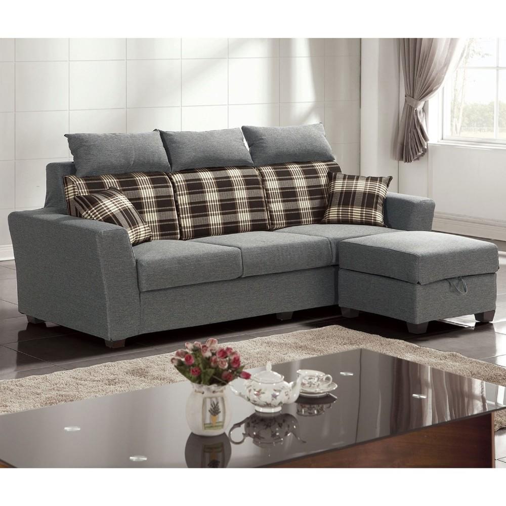 215cml型布沙發-a230-3 單人座 l型沙發 貓抓皮 布沙發 沙發床 沙發椅 金滿屋
