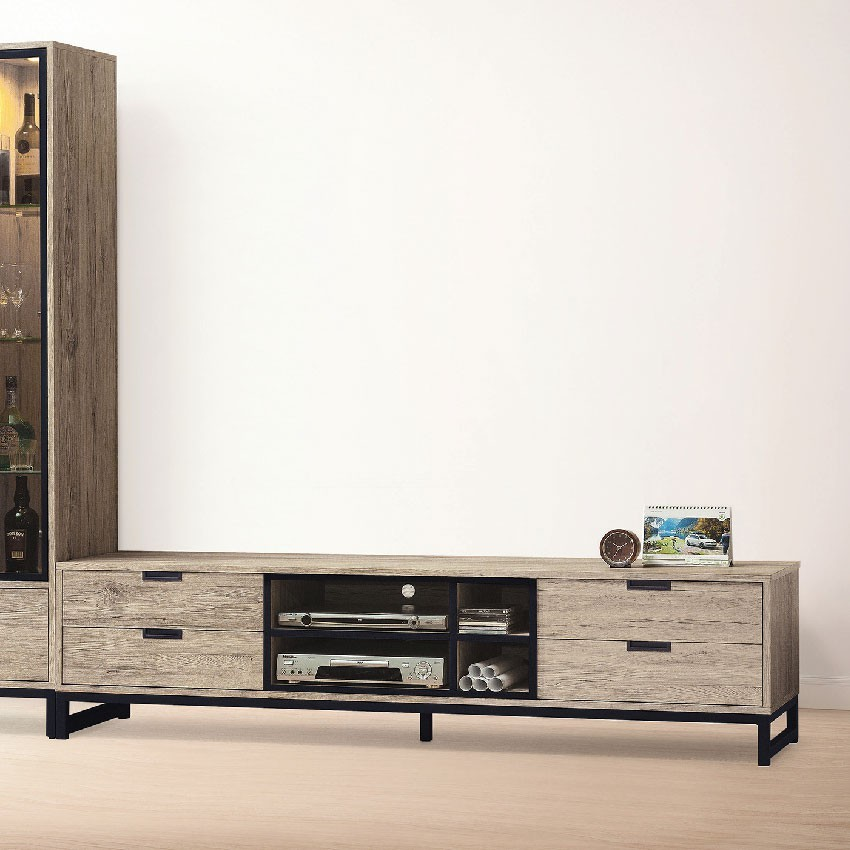 182cm長櫃-e401-4客廳組合長櫃 展示收納櫃 北歐工業風 tv櫃 金滿屋