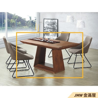 餐桌伸縮 長型餐桌組 北歐大理石桌子 圓形桌 方形收納摺疊桌 餐桌椅組【金滿屋】E736-1 (8折)