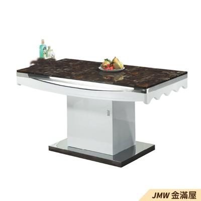 餐桌伸縮 長型餐桌組 北歐大理石桌子 圓形桌 方形收納摺疊桌 餐桌椅組【金滿屋】E803-Z166 (7折)