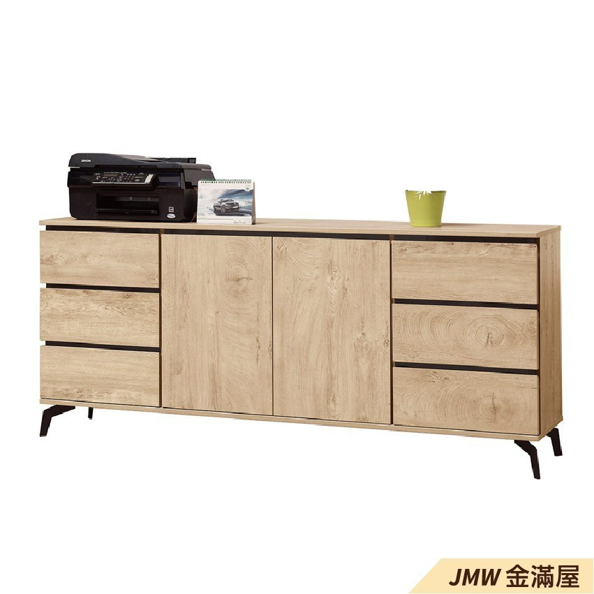 180cm北歐餐櫃收納 實木電器櫃 廚房餐櫥櫃 碗盤架 大理石金滿屋尺餐櫃-sh616-3
