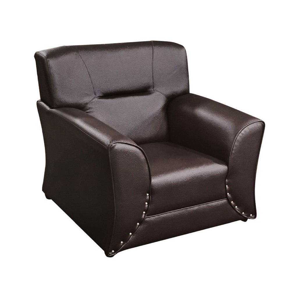 96cm單人座皮沙發-k887-1 單人座 l型沙發 貓抓皮 布沙發 沙發床 沙發椅 金滿屋