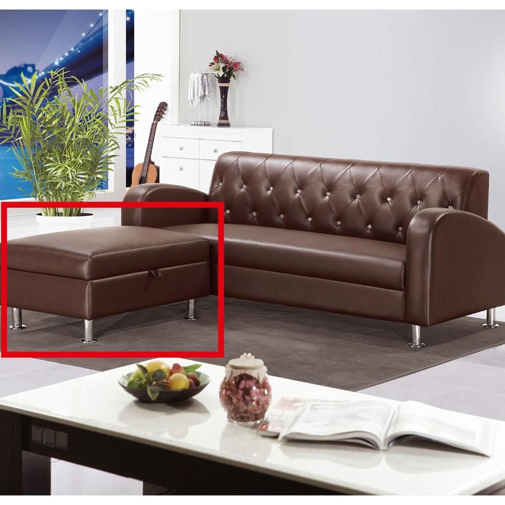 63cm收納皮腳椅-a217-8 單人座 l型沙發 貓抓皮 布沙發 沙發床 沙發椅 金滿屋