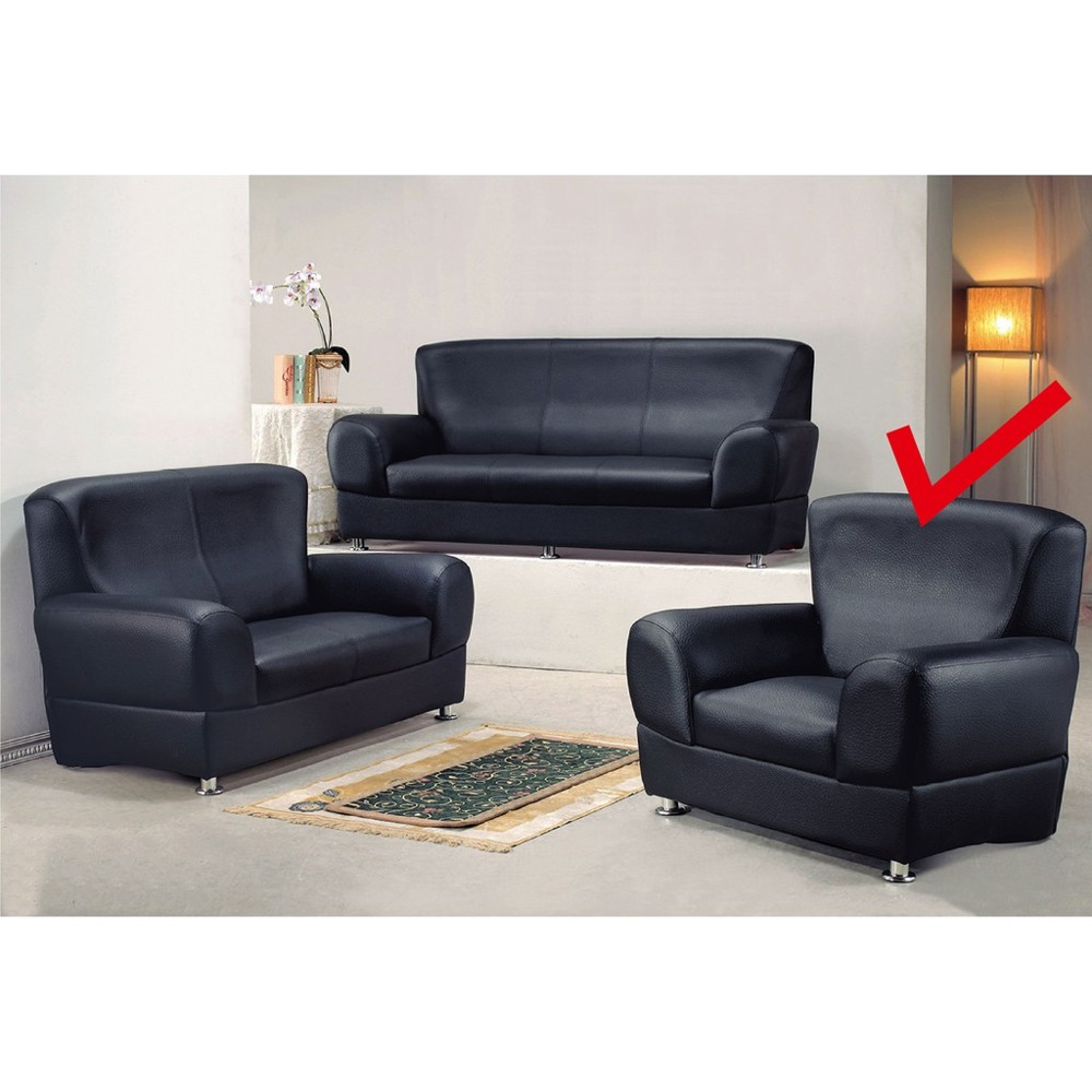 110.5cm單人座皮沙發-k503-1 單人座 l型沙發 貓抓皮 布沙發 沙發床 沙發椅 金滿屋