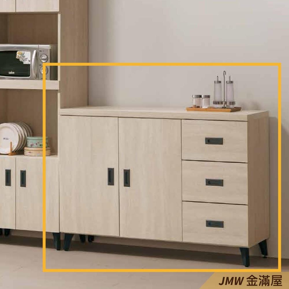 120cm北歐餐櫃收納 實木電器櫃 廚房餐櫥櫃 碗盤架 大理石金滿屋尺餐櫃-r343-2 -