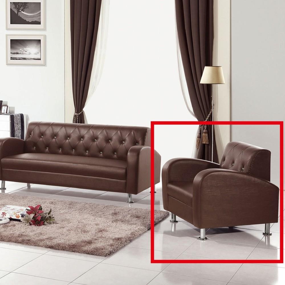 80cm單人座皮沙發-a217-3 單人座 l型沙發 貓抓皮 布沙發 沙發床 沙發椅 金滿屋