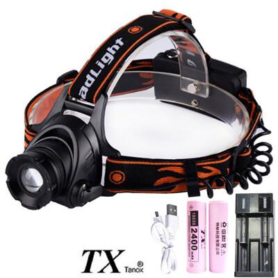 TX特林XML-L2 LED USB充電伸縮變焦強亮頭燈(HD-N83-L2USB) (6.8折)
