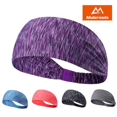 Maleroads 時尚條紋 運動髮帶 跑步 健身 瑜珈 運動頭巾 簡約造型 柔軟舒適 清爽透氣 (6折)