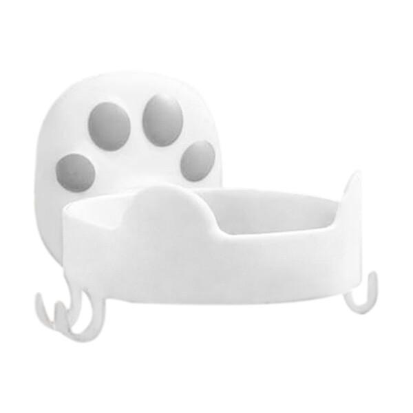 貓爪吹風機架  衛浴室無痕貼吹風機收納架 免釘免鑽強力吸附掛架 吹風機的家置物架掛鉤