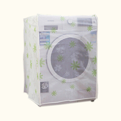 洗衣機防塵套 PEVA印花款滾筒式洗衣機罩 翻蓋式洗衣機套 保護套 防曬防水布套 防塵罩 上開 前開 (2.3折)