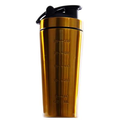 搖搖杯  附攪拌金屬球 304不銹鋼杯 1000ml冰霸杯 乳清高蛋白奶昔瓶 不鏽鋼運動隨手杯 1L (4.8折)