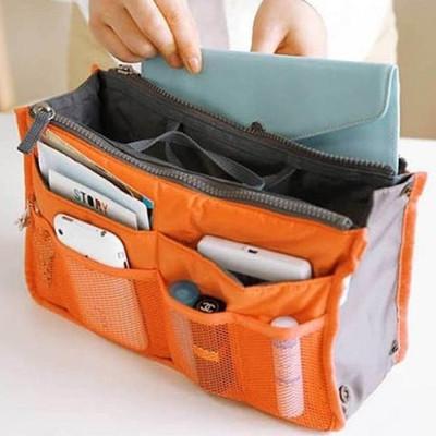 雙拉鍊包中號 13色BAG IN BAG 雙層超大 加厚手提式收納包 (1.7折)