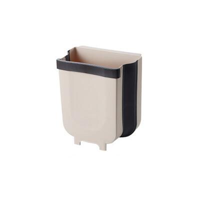 折疊掛式垃圾桶  小號  廚房流理台櫥櫃門板垃圾筒 門背廚餘盒 可伸縮垃圾筒 懸掛式置物盒 收納盒 (4.8折)