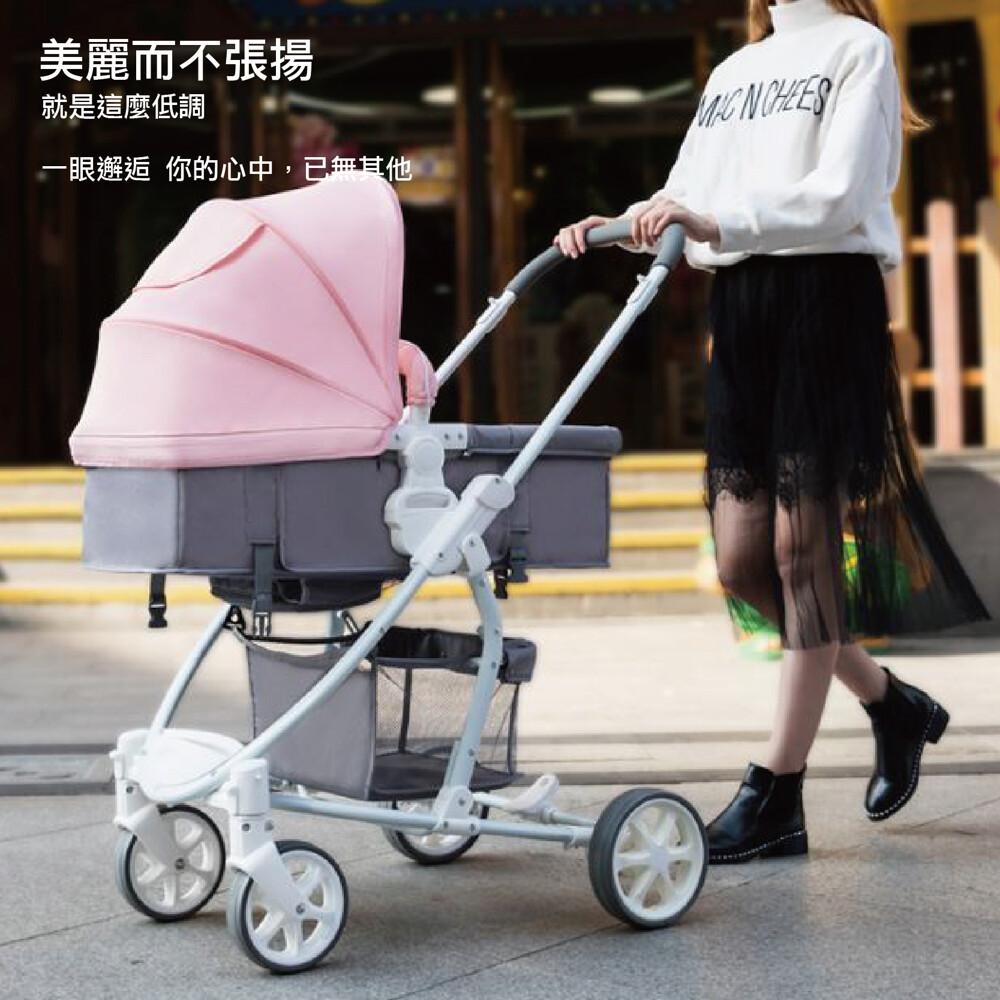 嬰兒推車/推車界的嬰兒房車 雙向嬰兒床中大型優雅避震嬰兒推車