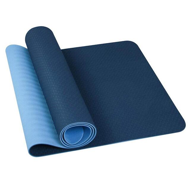 [非常百貨] tpe高密度雙色瑜珈墊(6mm) 附綁帶/背帶