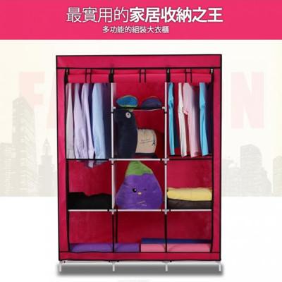 組合衣櫃(六色)【三排多功能八格衣櫥】DIY衣櫃 衣櫥 (4.1折)