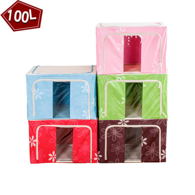 100L雙視窗耐磨牛津布防潑水可折疊收納箱 (3.1折)