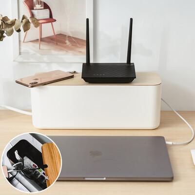 樂嫚妮 插座盒/集線盒子/電線收納盒/線材收納/推薦-L號-(2色)