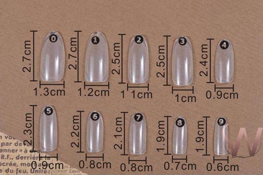 鵝蛋形甲片500片美甲 日本熱銷 短款 橢圓甲片 透明 全貼 甲片 指甲 m-15