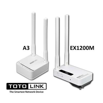 TOTOLINK AC1200 雙頻 A3 無線分享器 加 EX1200M訊號中繼強波器 組合 (10折)