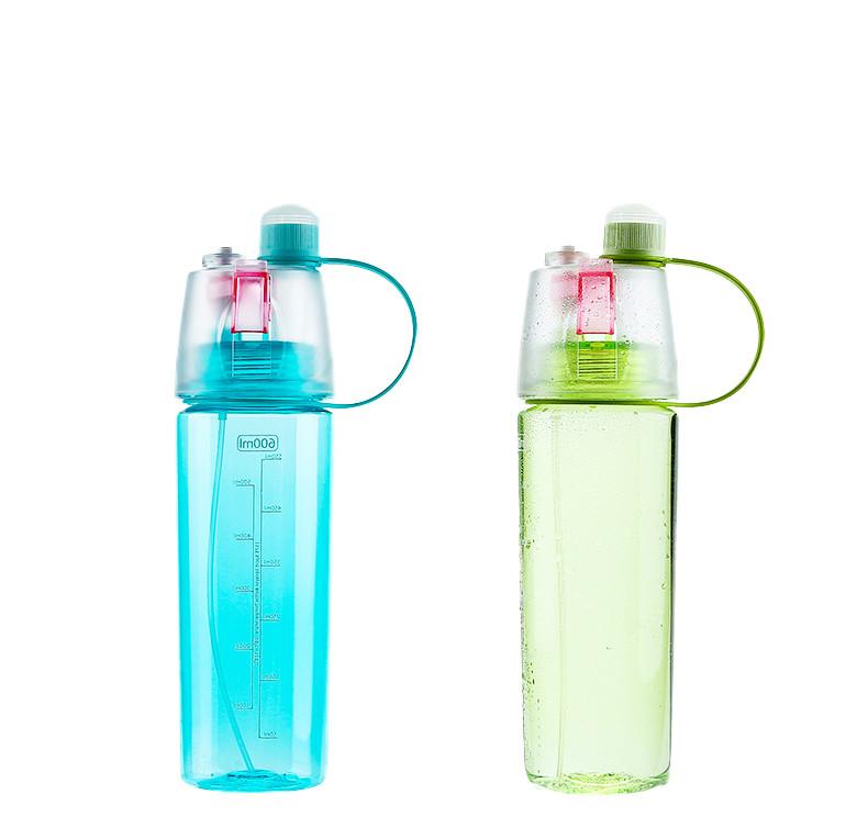 炫彩水瓶噴霧兩用水壺600ml