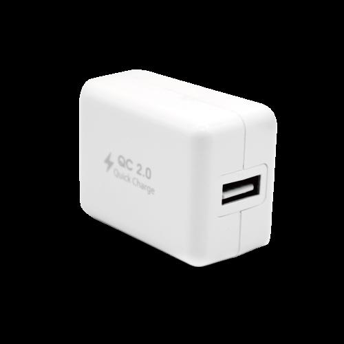 atake qc2.0 閃電快充充電器 贈micro5pi充電線 白色 sac-qc01kit-wh
