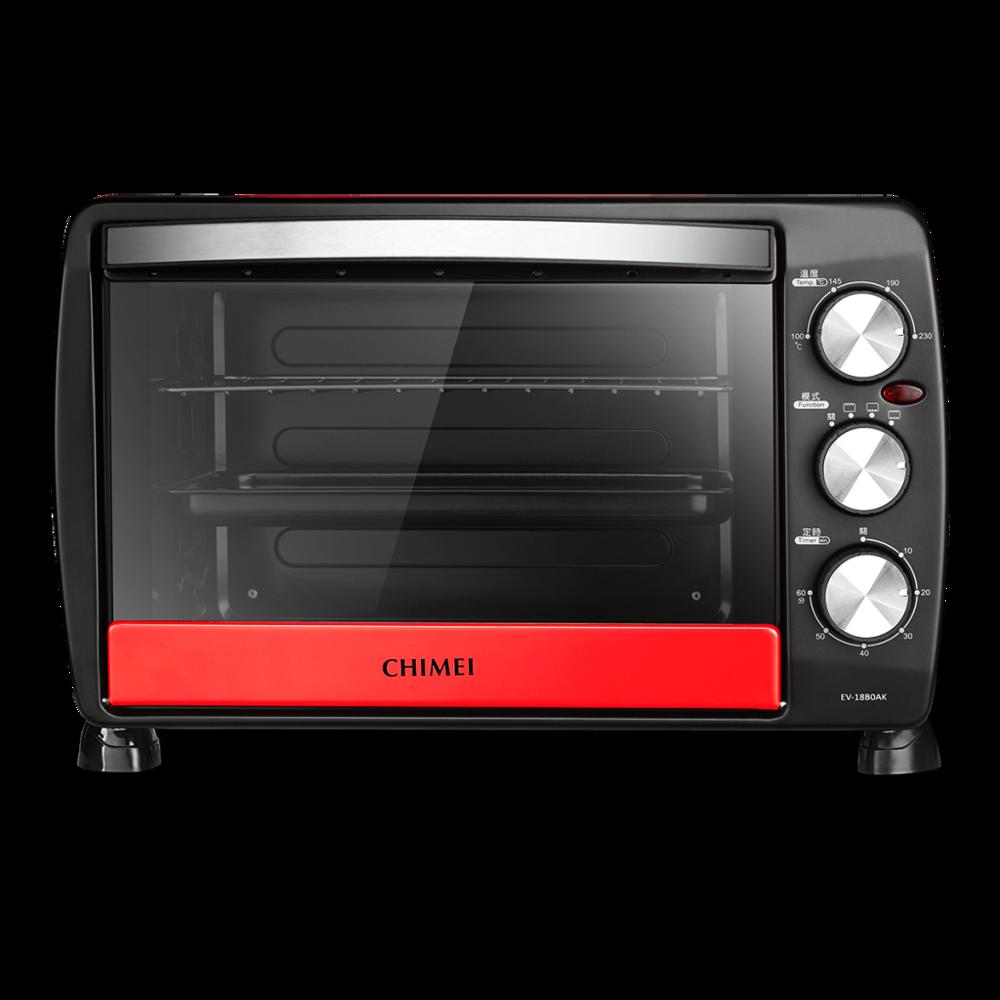 chimei奇美 18l家用電烤箱 (簡約白/莓果紅) ev-18b0ak