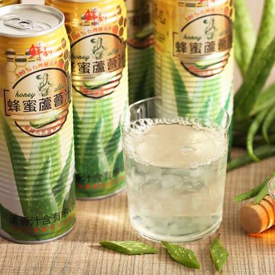 【半天水】鮮剖蜂蜜蘆薈汁〈520ml/瓶/易開罐〉 (6.4折)