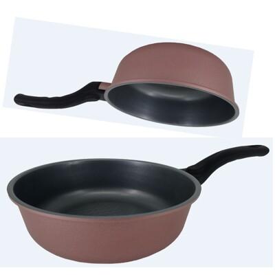 韓國Ecoramic鈦晶石頭抗菌不沾鍋- 20cm小家庭萬用鍋(無附蓋) (8.8折)