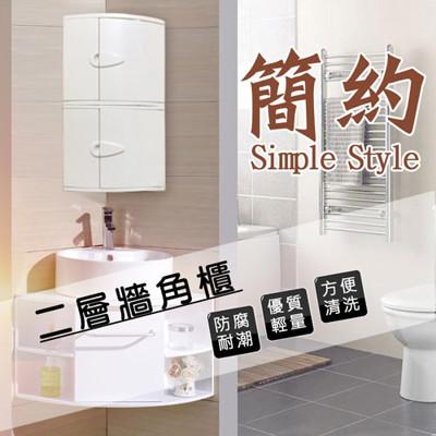 【金德恩】台灣製造 二層牆角雙門櫃 /角落櫃 (8折)