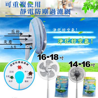 金德恩 台灣製 風扇靜電防塵過濾網 專利製造 (3.8折)