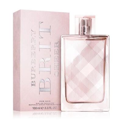 BURBERRY Brit Sheer粉紅風格女性淡香水 100ml【UR8D】 (3.7折)