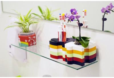 iEcofun創意造型花器-Puzzle (收納/牙刷架/牙膏架/刮鬍刀架/禮品) (4.7折)