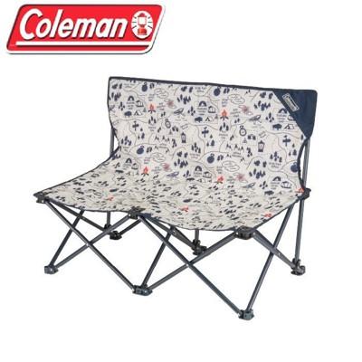 【Coleman】露營地圖情人椅/雙人休閒椅 戶外椅 摺疊椅/CM-33438M000 早點名露營生 (9折)