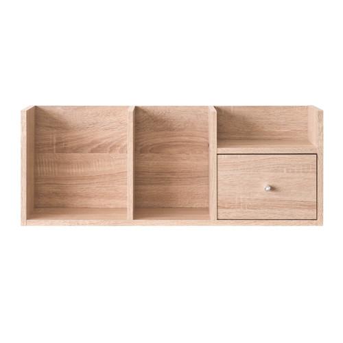 tzumii優雅堆疊收納架-淺橡木色