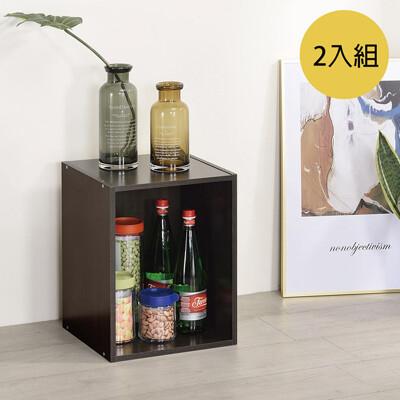 tzumii簡約加高單格櫃-2入 胡桃木色 (5.6折)