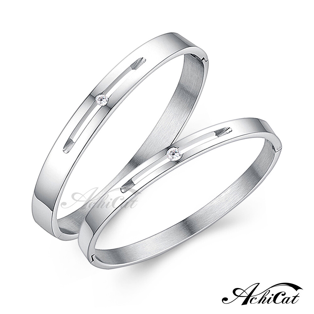 achicat 情侶手環 白鋼手環 微醺愛情 單鑽手環 單個價格 情人節禮物 b4050