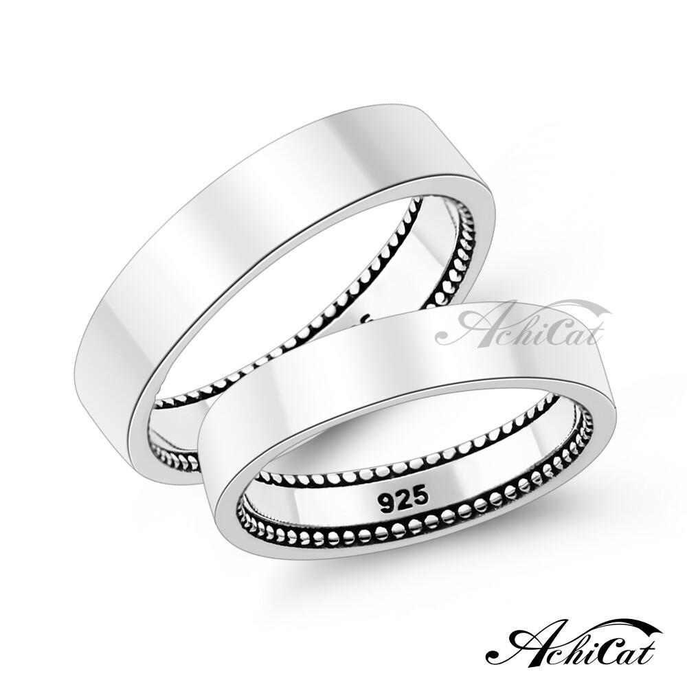 achicat 情侶戒指 925純銀戒指 相伴時光 情人對戒 尾戒 單個價格 as9018