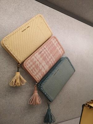 【直飛現貨 正品保證】小CK 編織流蘇皮夾 錢包(藍綠色)CK6-10770375 皮夾 皮包DXR (3.8折)